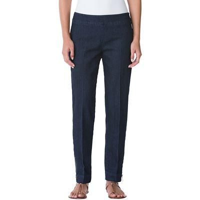 Classic Fit Slim-Sation Ankle-Zip Jeans