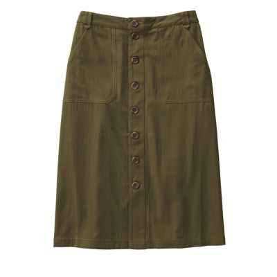 Plus Size Updated Ultimate Twill Skirt