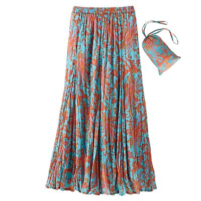 Women's TSO Crinkle Cotton Florentine Print Skirt
