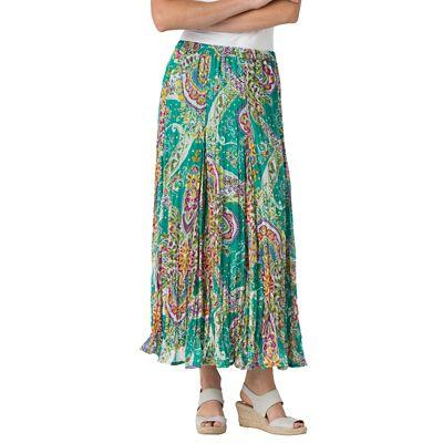Plus Size Medallion Crinkle Skirt