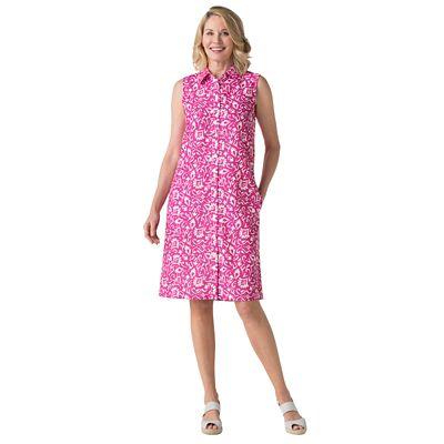 Women's Microfiber Shirt Dress