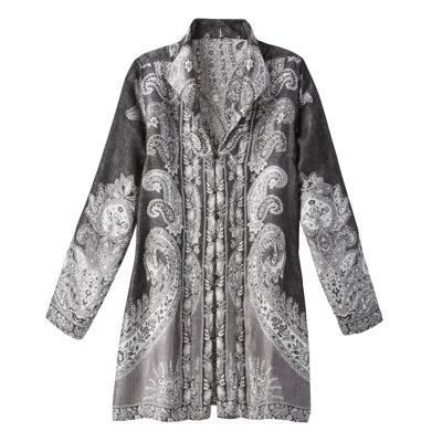 Silver Wing-Collar Jamevar Jacket
