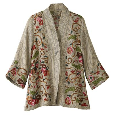 Shalimar Gardens Embroidered Jacket