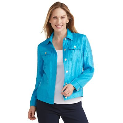 Samantha Brown Shimmer Jean-Style Jacket