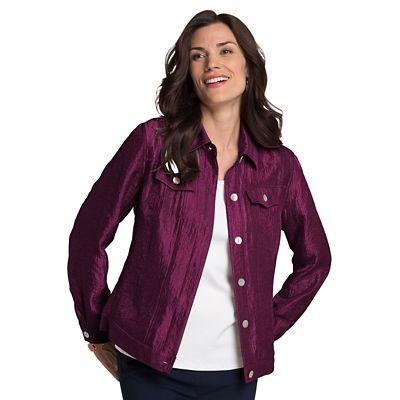 Samantha Brown Shimmer Jean-Style Jacket