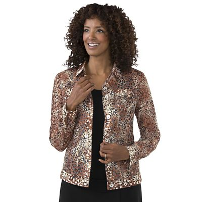 Leopard Artist Burnout Jacket
