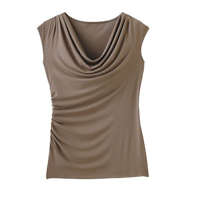 Jet Set Drape-Neck Shell