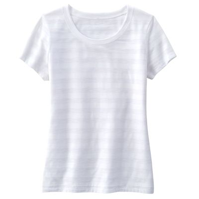Shadow-Stripe Scoopneck Tee