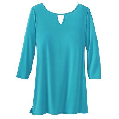 Samantha Brown Walkabout Knit Convertible-Neck Tunic