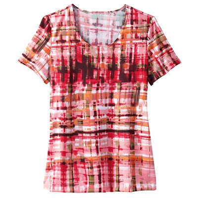 Walkabout Knit Isabella Patterned Scoopneck Tee