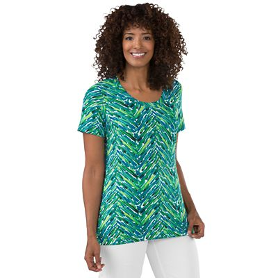 Walkabout Knit Scoopneck Print Tee