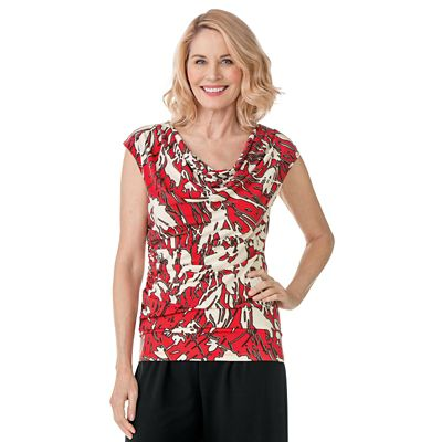 Jet Set Red Floral Shell