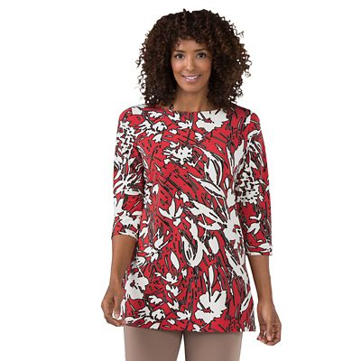 Jet Set Red Floral Tunic