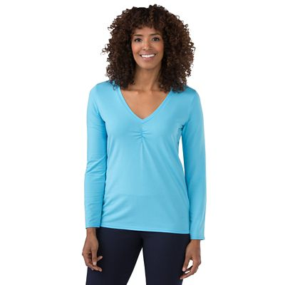 Plus Size TSO Ruched V-Neck Top