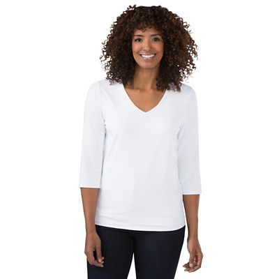 Women's V-Neck Double Layer Top
