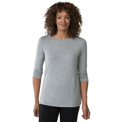 Essential Knit 3/4-Sleeve Boatneck Top