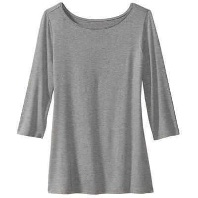 Essential ¾-Sleeve Bateau Top