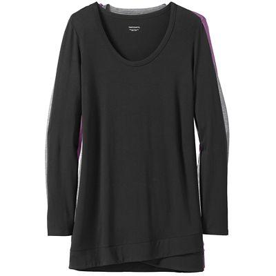 Traveler Knit Long-Sleeve Crossover Tunic