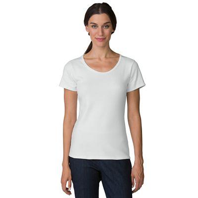 Short-Sleeve U-Neck Knit Top
