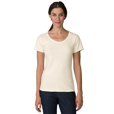 Plus Size Short-Sleeve U-Neck Knit Top