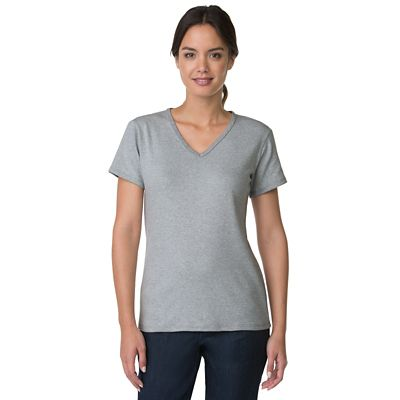 Plus Size Short-Sleeve V-Neck Knit Top