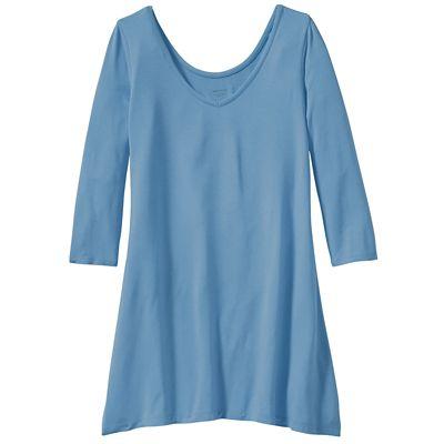 Traveler Knit ¾-Sleeve Hanky-Hem Tunic