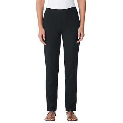 Classic Fit Ponte Knit Ankle Length Pants