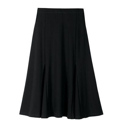 Jet Set Knit Elastic Waist Solid Skirt