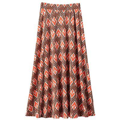 Jet Set Knit Print Long Skirt