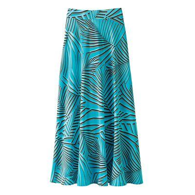 Jet Set Knit Long Print Skirt