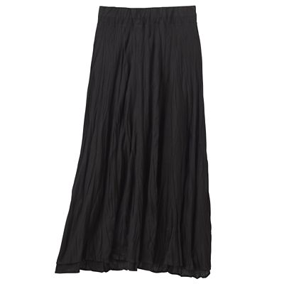 Crinkled Tencel Layered Long Skirt