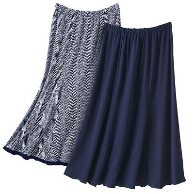 Plus Size Walkabout Knit Reversible Skirt