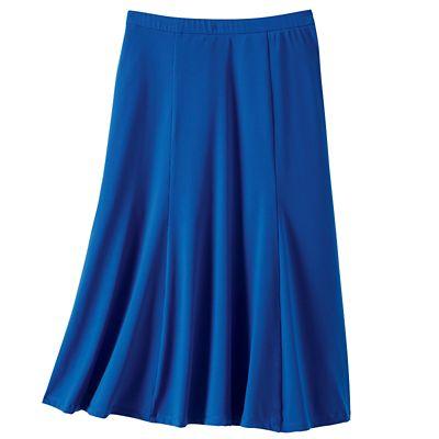Jet Set Knit Elastic Waist Solid Skirt