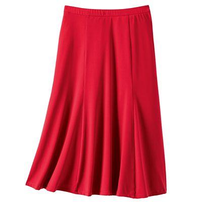 Plus Size Jet Set Knit Elastic Waist Solid Skirt
