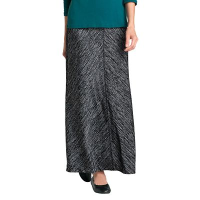 Marled Knit Pull-On Skirt
