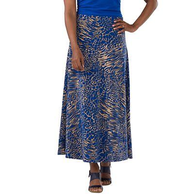 Women's Jet Set Knit Print Long Skirt