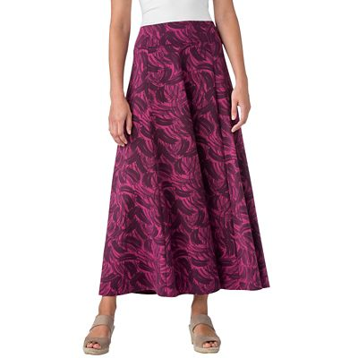 Indispensable Brushstroke Print Travel Skirt
