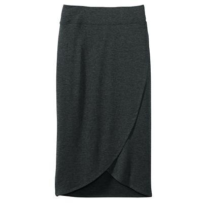 Multiples Long Faux-Wrap Skirt