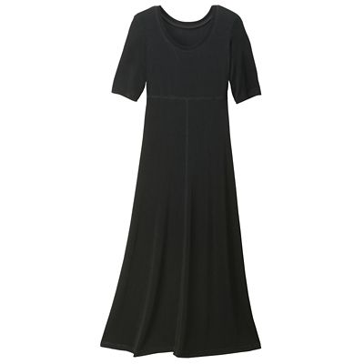 Plus Size Tres Elegant Knit Tea-Length Travel Dress - Traditional Fit