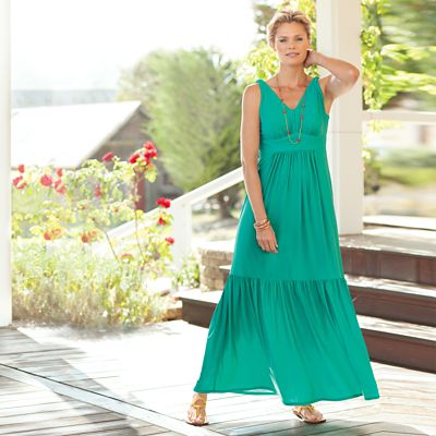 Walkabout Knit V-Neck Maxi Dress