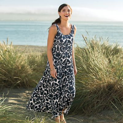 Walkabout Knit Sleeveless Long Sundress