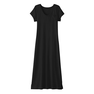 Cap-Sleeved V-Neck Long Tee Indispensable Travel Dress