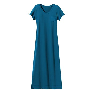 Cap-Sleeved V-Neck Long Tee Indispensable Travel Dress