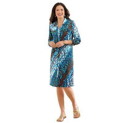 Walkabout Knit Print Shirtdress