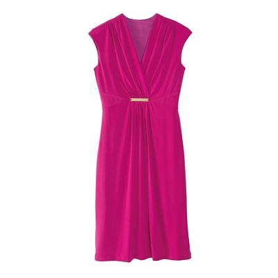 Walkabout Knit Slimmer Cap-Sleeved Dress