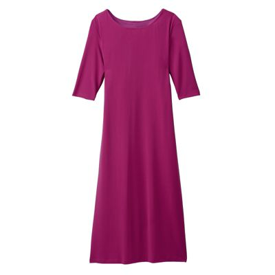 Walkabout Knit Slimmer Elbow-Length-Sleeved Dress