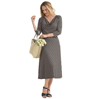 Plus Size Walkabout Knit Diana Drape-Neck Dress