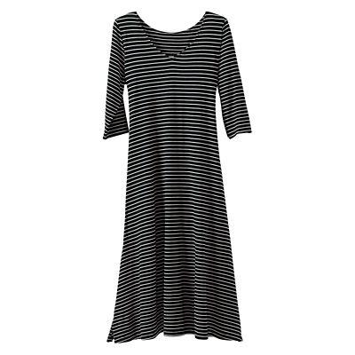Adjustable-Length Side-Ruched Dress