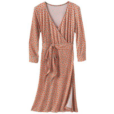 Samantha Brown Walkabout Knit Dot Wrap Dress