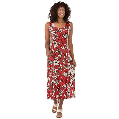 Jet Set Red Floral Dress